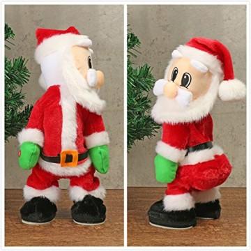 TOYMYTOY Tanzender Weihnachtsmann mit Musik Kinder elektrisch Spielzeug lustig singende und tanzende weihnachtsfiguren Weihnachtsgeschenke Deko - 2