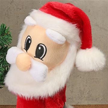 TOYMYTOY Tanzender Weihnachtsmann mit Musik Kinder elektrisch Spielzeug lustig singende und tanzende weihnachtsfiguren Weihnachtsgeschenke Deko - 3
