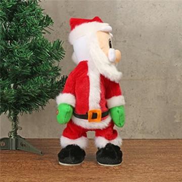 TOYMYTOY Tanzender Weihnachtsmann mit Musik Kinder elektrisch Spielzeug lustig singende und tanzende weihnachtsfiguren Weihnachtsgeschenke Deko - 4