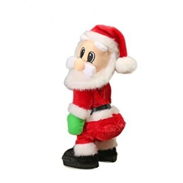 TOYMYTOY Tanzender Weihnachtsmann mit Musik Kinder elektrisch Spielzeug lustig singende und tanzende weihnachtsfiguren Weihnachtsgeschenke Deko - 1
