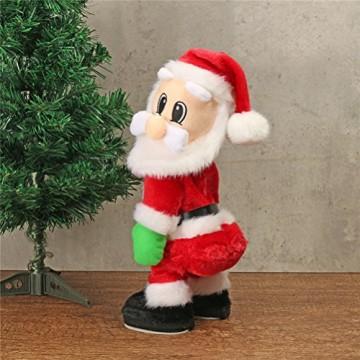 TOYMYTOY Tanzender Weihnachtsmann mit Musik Kinder elektrisch Spielzeug lustig singende und tanzende weihnachtsfiguren Weihnachtsgeschenke Deko - 5