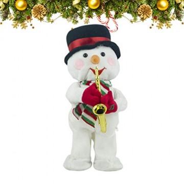 Toyvian Weihnachtsfigur, Schneemann, Plüsch, tanzend, singend, elektrisch, lustiges Geschenk für Kinder, Weihnachten, Party, Geschenk, Geschenke - 3