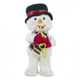 Toyvian Weihnachtsfigur, Schneemann, Plüsch, tanzend, singend, elektrisch, lustiges Geschenk für Kinder, Weihnachten, Party, Geschenk, Geschenke - 1