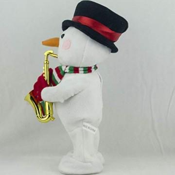 Toyvian Weihnachtsfigur, Schneemann, Plüsch, tanzend, singend, elektrisch, lustiges Geschenk für Kinder, Weihnachten, Party, Geschenk, Geschenke - 4