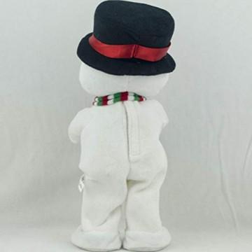Toyvian Weihnachtsfigur, Schneemann, Plüsch, tanzend, singend, elektrisch, lustiges Geschenk für Kinder, Weihnachten, Party, Geschenk, Geschenke - 5