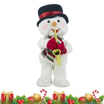 Toyvian Weihnachtsfigur, Schneemann, Plüsch, tanzend, singend, elektrisch, lustiges Geschenk für Kinder, Weihnachten, Party, Geschenk, Geschenke - 6