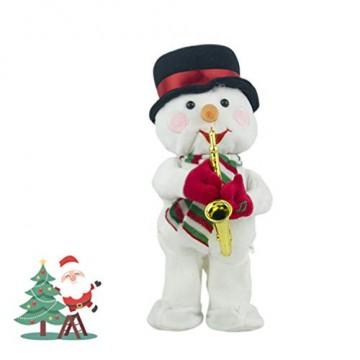 Toyvian Weihnachtsfigur, Schneemann, Plüsch, tanzend, singend, elektrisch, lustiges Geschenk für Kinder, Weihnachten, Party, Geschenk, Geschenke - 7