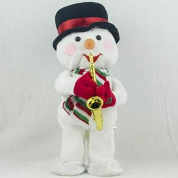 Toyvian Weihnachtsfigur, Schneemann, Plüsch, tanzend, singend, elektrisch, lustiges Geschenk für Kinder, Weihnachten, Party, Geschenk, Geschenke - 8