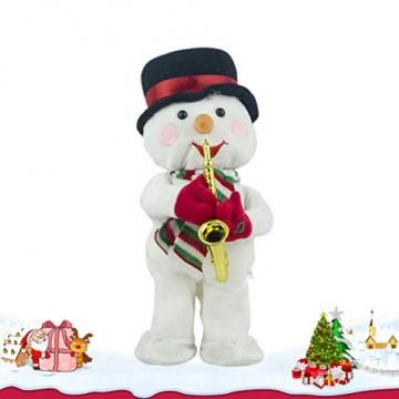 Toyvian Weihnachtsfigur, Schneemann, Plüsch, tanzend, singend, elektrisch, lustiges Geschenk für Kinder, Weihnachten, Party, Geschenk, Geschenke - 9
