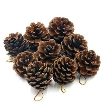 TRIXES 9 dekorative hängenden Tannenzapfen als Christbaumschmuck - 3