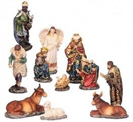 Unbekannt Krippenfiguren 11teiliges Set 14,5 cm Krippe Weihnachten - 1