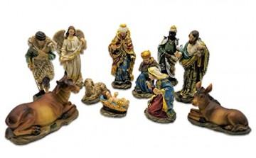 Unbekannt Krippenfiguren 11teiliges Set 14,5 cm Krippe Weihnachten - 3