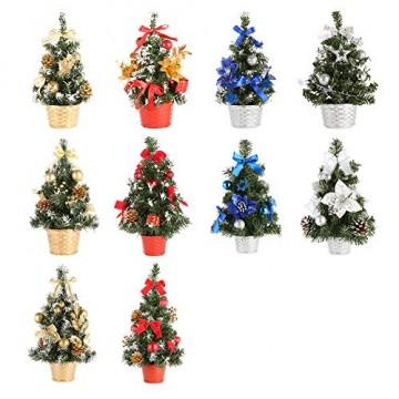 Urmagic Mini Weihnachtsbaum klein Künstlicher Tannenbaum mit Baumschmuck Weihnachtskugeln Künstliche Weihnachtsbäume weihnachts Desktop dekoration Weihnachtsgeschenke für Weihnachten - 2
