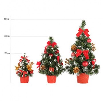 Urmagic Mini Weihnachtsbaum klein Künstlicher Tannenbaum mit Baumschmuck Weihnachtskugeln Künstliche Weihnachtsbäume weihnachts Desktop dekoration Weihnachtsgeschenke für Weihnachten - 5