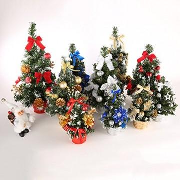 Urmagic Mini Weihnachtsbaum klein Künstlicher Tannenbaum mit Baumschmuck Weihnachtskugeln Künstliche Weihnachtsbäume weihnachts Desktop dekoration Weihnachtsgeschenke für Weihnachten - 6