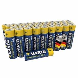 Varta Industrial Batterie (AA Mignon Alkaline Batterien LR6, umweltschonende Verpackung, 40er Pack) - 1