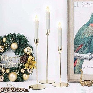 VASEN 10/20/30/40er LED Weihnachtsbaumkerzen Kabellos mit Fernbedienung Warmweiß Flammenlos Christbaumkerzen (40er) - 2