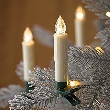 VINGO 10er LED Weihnachtskerzen mit Fernbedienung Kabellos Warmweiß Kerzen Dimmbar Christbaumkerzen für Weihnachtsbaum,Christbaumsdeko - 3