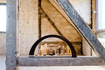 VOFA - Holz und Design Schwibbogen, Moderner Schwibbogen mit LED Beleuchtung, mit Krippenfiguren, Handarbeit aus dem Erzgebirge statt 210,00 Euro - 2