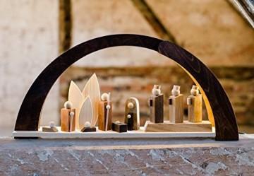 VOFA - Holz und Design Schwibbogen, Moderner Schwibbogen mit LED Beleuchtung, mit Krippenfiguren, Handarbeit aus dem Erzgebirge statt 210,00 Euro - 1