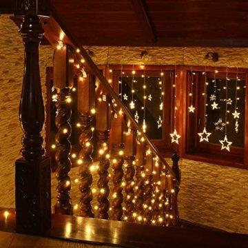 VOLTRONIC® LED Lichterkette für innen und außen, Größenwahl: 50 100 200 400 600 LEDs, warmweiß/kaltweiß/bunt/warmweiß+kaltweiß, GS geprüft, IP44, optional mit 8 Leuchtmodi/Fernbedienung/Timer - 2