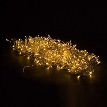 VOLTRONIC® LED Lichterkette für innen und außen, Größenwahl: 50 100 200 400 600 LEDs, warmweiß/kaltweiß/bunt/warmweiß+kaltweiß, GS geprüft, IP44, optional mit 8 Leuchtmodi/Fernbedienung/Timer - 5