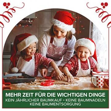 Weihnachtsbaum künstlich 180 cm – Edle Nordmanntanne mit Weihnachtsbaumständer – Künstlicher Premium Tannenbaum mit besonders dichten Zweigen – Exklusives Markenprodukt - Naturgetreu, Made in EU - 3