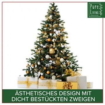 Weihnachtsbaum künstlich 180 cm – Edle Nordmanntanne mit Weihnachtsbaumständer – Künstlicher Premium Tannenbaum mit besonders dichten Zweigen – Exklusives Markenprodukt - Naturgetreu, Made in EU - 4