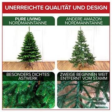 Weihnachtsbaum künstlich 180 cm – Edle Nordmanntanne mit Weihnachtsbaumständer – Künstlicher Premium Tannenbaum mit besonders dichten Zweigen – Exklusives Markenprodukt - Naturgetreu, Made in EU - 5