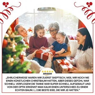 Weihnachtsbaum künstlich 180 cm – Edle Nordmanntanne mit Weihnachtsbaumständer – Künstlicher Premium Tannenbaum mit besonders dichten Zweigen – Exklusives Markenprodukt - Naturgetreu, Made in EU - 7