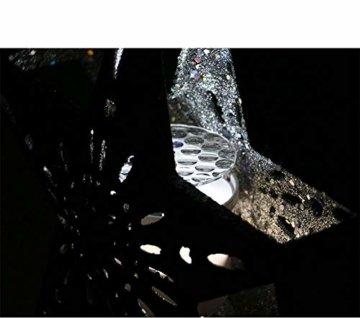 Weihnachtsbaumprojektionslampe, Weihnachtsbaumsternlampe, LED Weihnachtsbaumspitze Schneeflockenprojektionslampe Baumspitze Sternprojektionslampe-Silber fünfzackiger Stern_British regulierend - 4