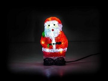 Weihnachtsmann, 16 LEDs, Acryl Weihnachtsfigur, Zigarettenanzünder 24V, Innendekoration, Höhe ca. 20 cm - 3