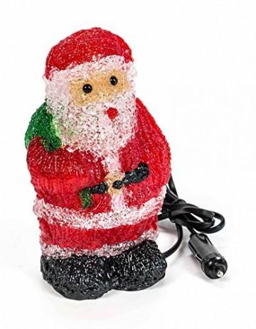 Weihnachtsmann, 16 LEDs, Acryl Weihnachtsfigur, Zigarettenanzünder 24V, Innendekoration, Höhe ca. 20 cm - 4