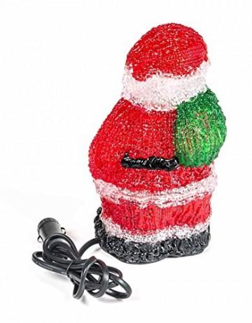 Weihnachtsmann, 16 LEDs, Acryl Weihnachtsfigur, Zigarettenanzünder 24V, Innendekoration, Höhe ca. 20 cm - 5