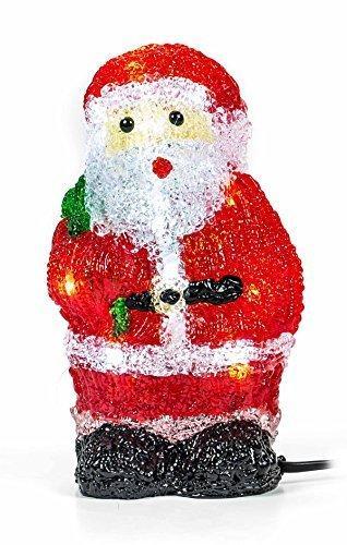 Weihnachtsmann, 16 LEDs, Acryl Weihnachtsfigur, Zigarettenanzünder 24V, Innendekoration, Höhe ca. 20 cm - 6
