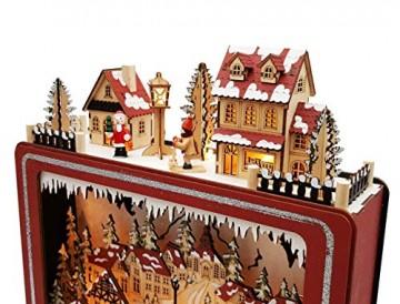 Wichtelstube-Kollektion LED Weihnachtsdeko Holz beleuchtet Weihnachtsfernseher Lichterbogen Weihnachten - 6