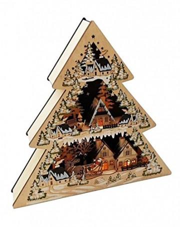 Wichtelstube-Kollektion XL LED Lichterbogen Weihnachtstanne Schwibbogen Weihnachtsdeko Holz 45cm - 2