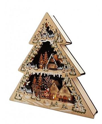 Wichtelstube-Kollektion XL LED Lichterbogen Weihnachtstanne Schwibbogen Weihnachtsdeko Holz 45cm - 4