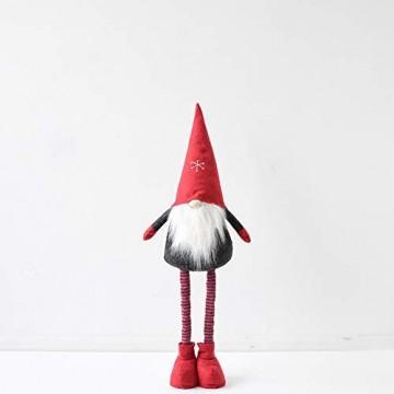 WJHFF Weihnachten stehend Santa Claus geformte Puppe mit ausziehbaren Beinen, Weihnachtsszene Anordnung Fenster Dekoration Geschenk Spielzeug für Kinder - 1