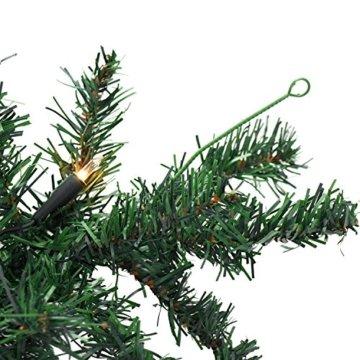 Wohaga Weihnachtsgirlande Tannengirlande Lichterkette 270cm 180 Spitzen 20 Lampen 16 Kugeln Gold - 2