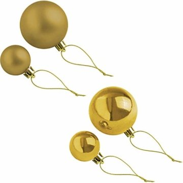 Wohaga Weihnachtsgirlande Tannengirlande Lichterkette 270cm 180 Spitzen 20 Lampen 16 Kugeln Gold - 3