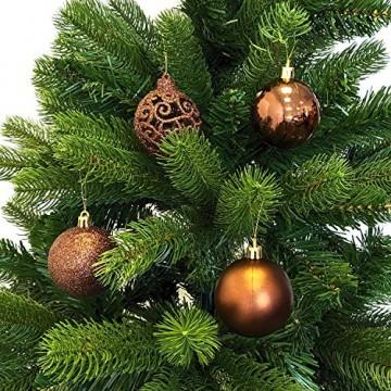 Wohaga Weihnachtskugel-Set Christbaumkugeln Baumschmuck Weihnachtsbaumschmuck Baumkugeln, Farbe:Braun, Größe:100 - 2