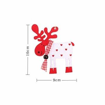 Wohlstand 6X Weihnachten Hirsch Rentier Holz Handwerk Ornament Hänge Anhänger Dekoration Weihnachten Elch Holz Christbaumschmuck Weihnachten Hängen Anhänger Dekoration Geschenke Partei Liefert - 3