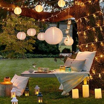 WOWDSGN 25M 200 LEDs Lichterkette, Warmweiß, 8 Leuchtmodi Dimmbar, Strombetrieben mit EU Stecker, IP44 Wasserdicht, Lichterkette für Party, Feier, Hochzeit, Weihnachtsbeleuchtung für Innen und Außen - 3