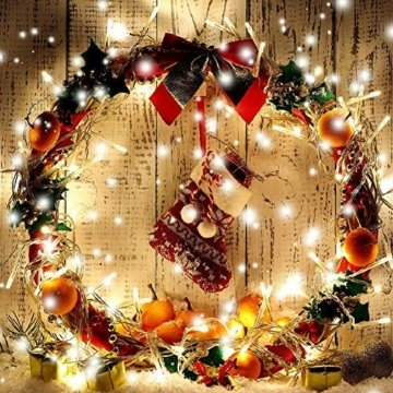 WOWDSGN 25M 200 LEDs Lichterkette, Warmweiß, 8 Leuchtmodi Dimmbar, Strombetrieben mit EU Stecker, IP44 Wasserdicht, Lichterkette für Party, Feier, Hochzeit, Weihnachtsbeleuchtung für Innen und Außen - 7