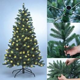 Xenotec PE- Weihnachtsbaum künstlich ca. 150 cm hoch mit 166 LED- warmweißes Licht- Das Original - 1