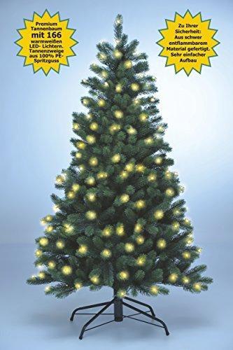 Xenotec PE- Weihnachtsbaum künstlich ca. 150 cm hoch mit 166 LED- warmweißes Licht- Das Original - 5
