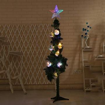 XiangZe Weihnachtsbaum Stern,Christbaumspitze Stern Tannenbaum Spitze Mehrfarben LED für Feiertags-Dekorationen, glitzernder Stern Baumspitze, Weihnachtsbaum Topper Ornamente in warmen Licht - 3