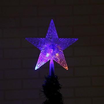 XiangZe Weihnachtsbaum Stern,Christbaumspitze Stern Tannenbaum Spitze Mehrfarben LED für Feiertags-Dekorationen, glitzernder Stern Baumspitze, Weihnachtsbaum Topper Ornamente in warmen Licht - 4