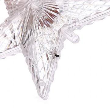 XiangZe Weihnachtsbaum Stern,Christbaumspitze Stern Tannenbaum Spitze Mehrfarben LED für Feiertags-Dekorationen, glitzernder Stern Baumspitze, Weihnachtsbaum Topper Ornamente in warmen Licht - 6